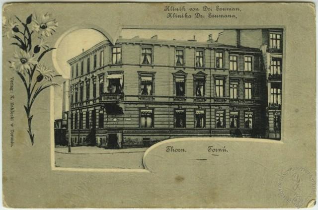 Budynek kliniki doktora Szumana przy placu Świętej Katarzyny w Toruniu, gdzie w 1900 roku odbywały się m.in. krwawe operacje