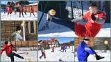 Tajlandzki sport narodowy w Białce Tatrzańskiej. Zawodnicy grali w Sepak Takraw na śniegu