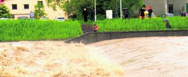 Soła podczas powodzi z 2010 roku budziła strach wielu mieszkańców Żywiecczyzny