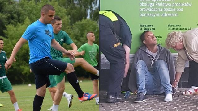 Dawid Janczyk znów ma poważne problemy. Piłkarz zataczał się w centrum Warszawy