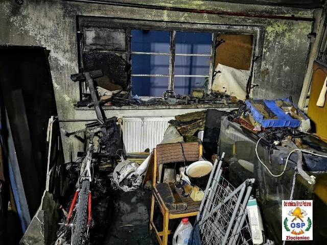 Pożar mieszkania w Złocieńcu