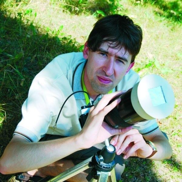 Szymon Dykiert z Białegostoku będzie obserwować zaćmienie