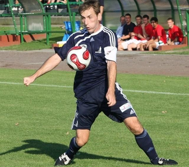 Tomasz Kasprzyk w sobotnim meczu najpewniej zagra w ataku Ruchu Zdzieszowice.