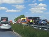 Wypadek w Wargowie. Na krajowej jedenastce zderzyły się dwa samochody