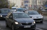 Mój Reporter: Po zmianach na Drobnera i Łokietka rowerzyści górą, a kierowcy stoją w korkach