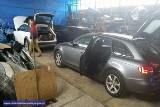 Dziupla kradzionych Audi rozbita (ZDJĘCIA)