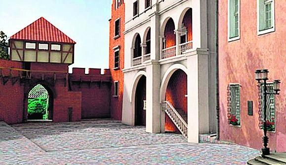 To jedna z wizualizacji przedstawiających dziedziniec zamku na Wzgórzu Przemysła po odbudowie