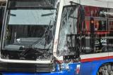 Zderzenie tramwajów na węźle Klaryski w Bydgoszczy. Tramwaje w mieście zmieniły trasy