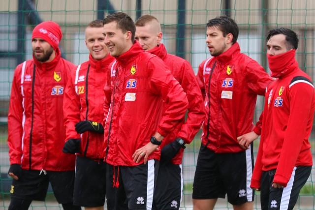 Piłkarze Jagiellonii na pierwszym grupowym treningu