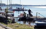 Trzeci dzień poszukiwań na jeziorze Pogoria III w Dąbrowie Górniczej. Nurkom wciąż nie udało się znaleźć żeglarza, który wpadł do wody