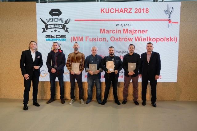 Nagrody dla najlepszych Kucharzy Roku w 2018 roku w etapie wojewódzkim plebiscytu