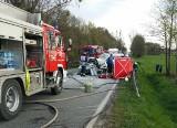 Wypadek na drodze krajowej nr 43 w Janinowie. Jedna osoba nie żyje