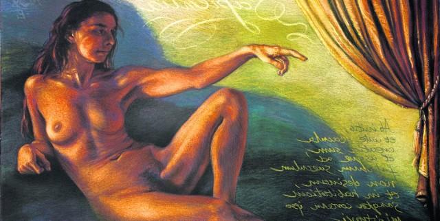 Krzysztof Izdebski-Cruz, Sapientia, 2003, pastel na papierze