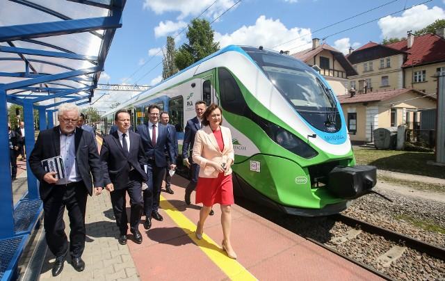 Szlakiem podkarpackiej kolei aglomeracyjnej.