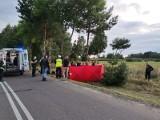 Śmiertelny wypadek motocyklisty w  Majaczewicach koło Sieradza. Nie żyje 52-letni motocyklista