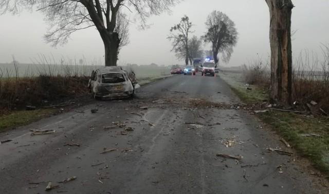 Wypadek wydarzył się w Łabiszynie.