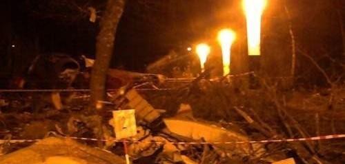 Zdjęcie z miejsca katastrofy Tupolewa