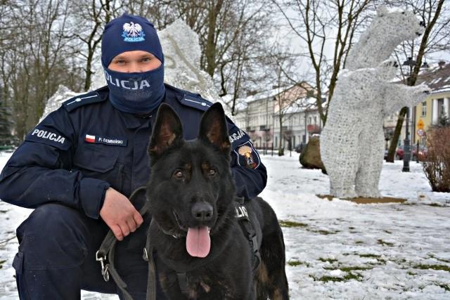 Pies policyjny Zdzisiek dołączył do suwalskiej policji