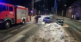 Zderzenie wozu strażackiego i osobówki w Słupsku (ZDJĘCIA)