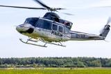 Podlaskie. Policyjny śmigłowiec patroluje DK 19. W niedzielę będzie zabezpieczał mecz Jagiellonia - Legia [ZDJĘCIA]