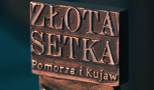 """Fragment Statuetki """"Złota Setka Pomorza i Kujaw"""""""