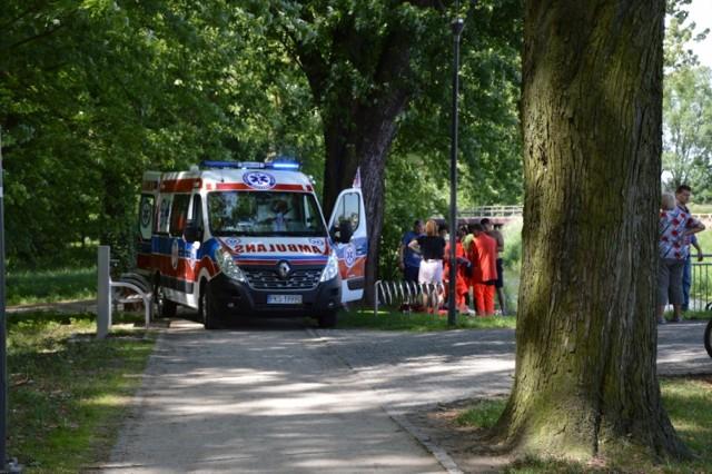 Wypadek w Kościanie - dwie osoby ciężko ranne