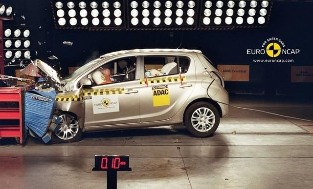 Hyundai i20 w trakcie testu Euro NCAP
