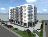 """Radom. Przy Centrum Handlowym """"Przy Struga"""" powstaje blok mieszkalny. Zobacz nowe wizualizacje i zdjęcia z budowy !"""