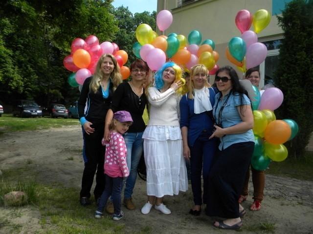 Balonowe życzenia cieszyły się ogromnym powodzeniem wśród dzieci.