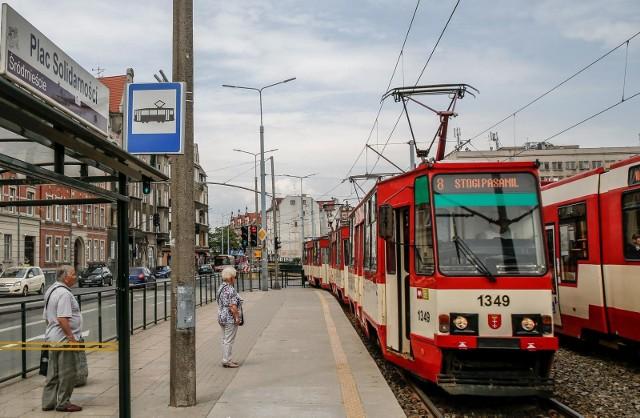 Na odcinku Dworzec Gł. - Jana z Kolna - Szpital Kliniczna nie kursują tramwaje, zorganizowano autobusową komunikację zastępczą