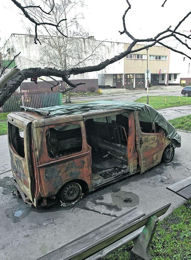 Blisko półtora roku wrak auta straszy na blokowisku przy ul. Horbaczewskiego. Mieszkańcy wciąż czekają, aż spółdzielnia mieszkaniowa go zabierze. Żeby usunąć ten wrak, trzeba było wygrać sprawę w sądzie