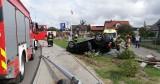Dachowanie w Dębnicy Kaszubskiej. Pasażerowie trafili do szpitala