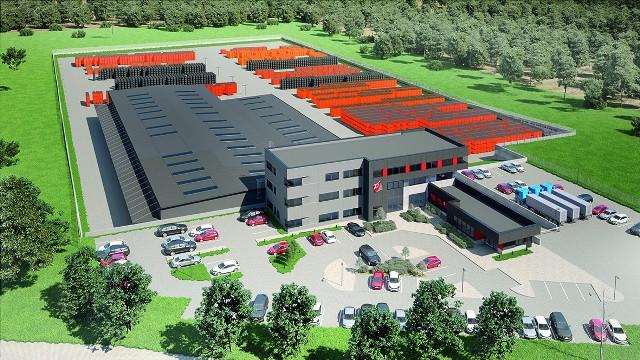 Palisander realizuje swoją inwestycję w Choroszczy na powierzchni ok. 4 ha – powstanie m.in. budynek biurowo-socjalny o 3 kondygnacjach naziemnych i 1 podziemnej, hala zakładu napraw i magazyny