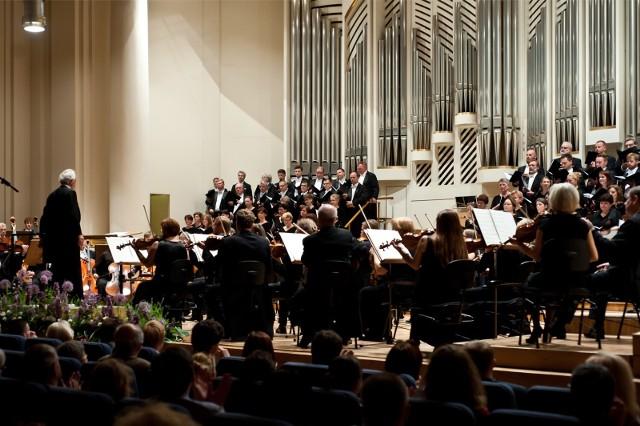 14.06.2014 krakow ..filharmonia krakow 50 lat pracy drygent antoni wit fot. wojciech matusik / polskapresse gazeta krakowska