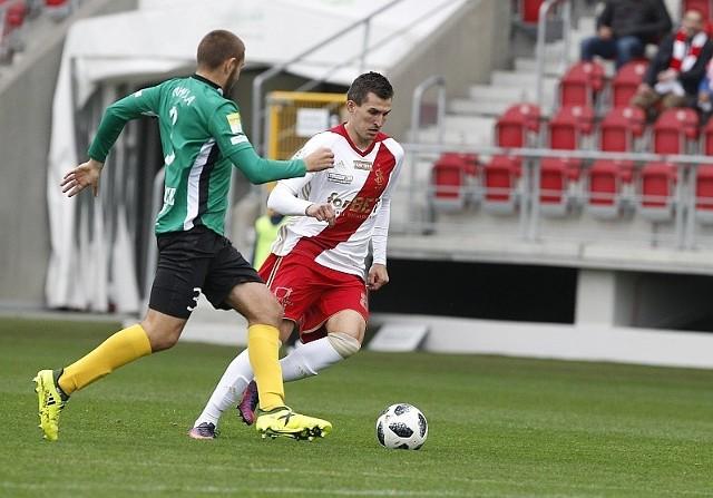 Napastnik Rafał Kujawa zdobył gola w poprzednim spotkaniu z GKS Jastrzębie