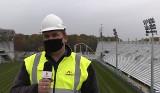 Na budowie stadionu ŁKS. Dostawa elementów konstrukcji stalowej. Montaż dachu w piątek [FILM]