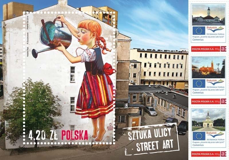Znaczki pocztowe z Białymstokiem. Dziewczynka z konewką to nie wszystko, Comenius ma swoje znaczki (zdjęcia)