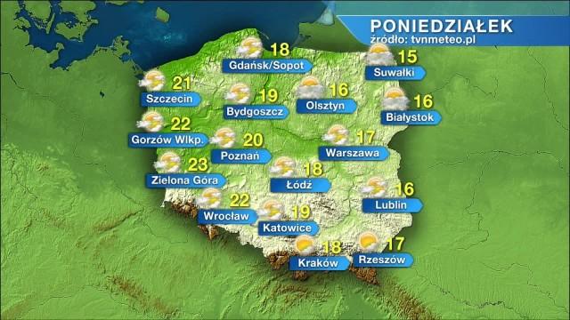 Jaka będzie pogoda w poniedziałek, 5 września
