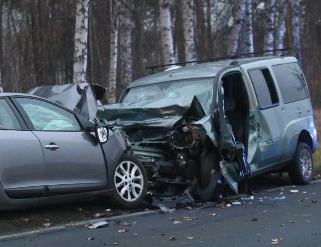 Wypadek w Kobylicach 16.12.2020