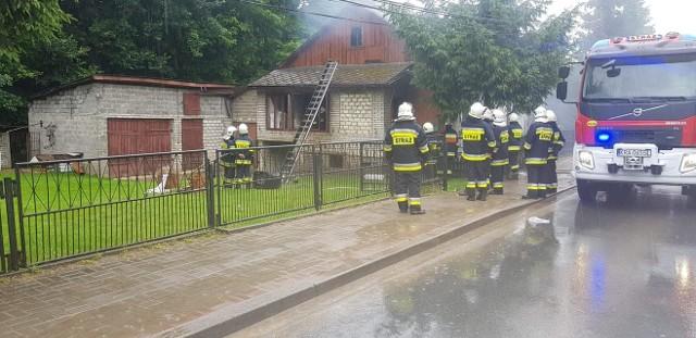 Pożar domu jednorodzinnego w Sułoszowej