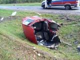 Suchowolce. Wypadek dwóch samochodów na DK nr 66 Bielsk Podlaski - Kleszczele. Dwójka dzieci oraz kierowca w szpitalu (zdjęcia)