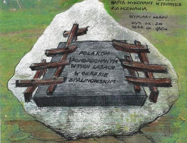 Zaakceptowany przez Radę Ochrony Pamięci Walki i Męczeństwa projekt pomnika, który stanie w gądeckim lesie