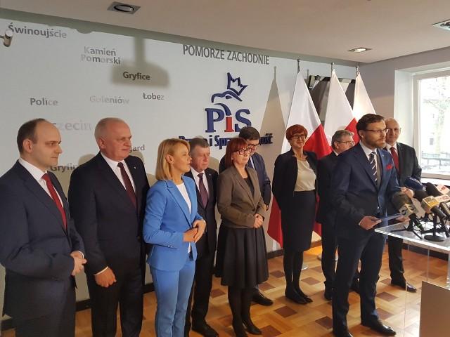 Konferencja Prawa i Sprawiedliwości w sprawie kandydatów do europarlamentu z okręgu nr 13, który obejmuje województwa lubuskie i zachodniopomorskie.