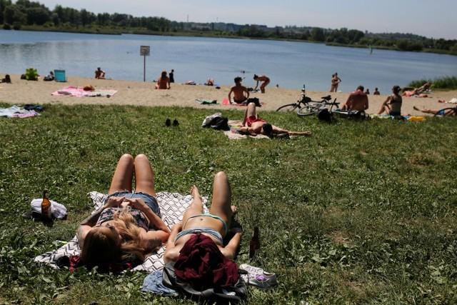 28.05.2018 krakow, bagry zalew, upal, ludzie, nzfot. andrzej banas / polska press