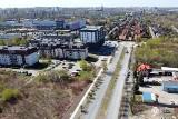 Przebudowa alei Zagłębia Dąbrowskiego w Dąbrowie Górniczej z lotu ptaka. W piątek 24 kwietnia zamknięta będzie ul. Tysiąclecia