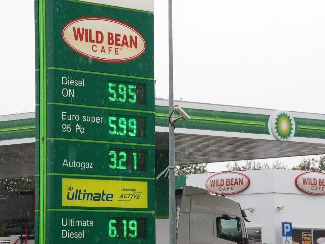 Wysokie ceny paliw w Koszalinie