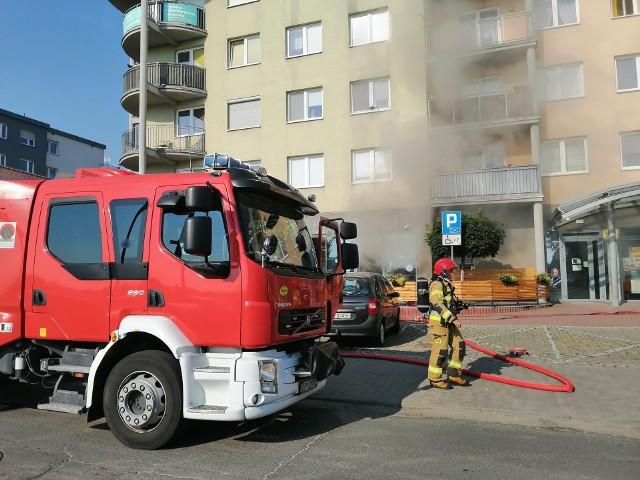 Strażacy w akcji w opolskiej kawiarni Sopelek na ul. Bielskiej.