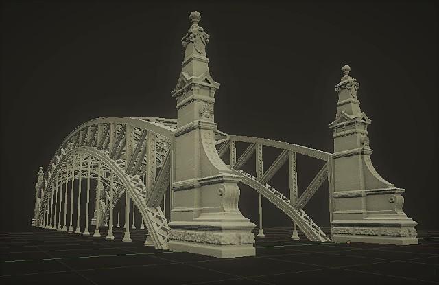 Tak w technologii trójwymiarowej prezentuje się most Zwierzyniecki, który jako pierwszy doczeka się swojej miniatury