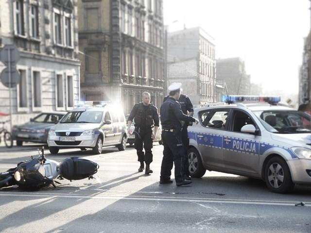 Wypadek motocyklisty Chorzów