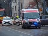 Zderzenie na Piotrkowskiej przy Czerwonej w Łodzi. Dwie limuzyny w akcji! ZDJĘCIA